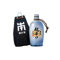 ★記念館オリジナル商品:甚吉袋入り 生酛 超辛口 徳利ボトル720ml